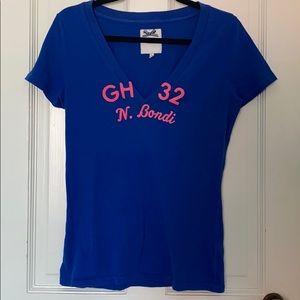 Gilly Hicks Blue V Neck T Shirt